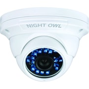 Night Owl CAM-DM924A Wired Security Dome Camera With Audio and 75 ft. Night Vision, White