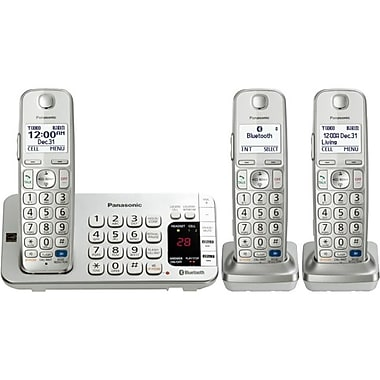 Panasonic KX-TGE273S Link2Cell Bluetooth Enabled Phone With 2 Handsets, 3000 Name/Number