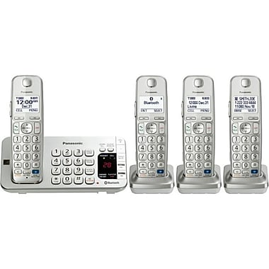 Panasonic KX-TGE274S Link2Cell Bluetooth Enabled Phone With 3 Handsets, 3000 Name/Number