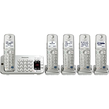 Panasonic KX-TGE275S Link2Cell Bluetooth Enabled Phone With 4 Handsets, 3000 Name/Number