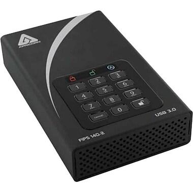 Apricorn – Disque dur externe USB 3.0 de bureau, 2 To Aegis Padlock DT FIPS, noir