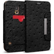 Cellairis® Bespoke™ Wristlet Ostrich Diary Case For Samsung Galaxy S5, Black