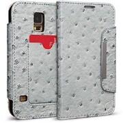Cellairis® Bespoke™ Wristlet Ostrich Diary Case For Samsung Galaxy S5, Silver