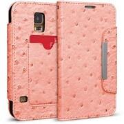 Cellairis® Bespoke™ Wristlet Ostrich Diary Case For Samsung Galaxy S5, Light Pink