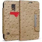 Cellairis® Bespoke™ Wristlet Ostrich Diary Case For Samsung Galaxy S5, Taupe