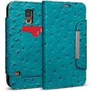 Cellairis® Bespoke™ Wristlet Ostrich Diary Case For Samsung Galaxy S5, Turquoise