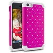 Cellairis® Challenger Hybrid Ripple Case For iPhone 5C, Hot Pink/White