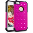 Cellairis® Challenger Hybrid Ripple Case For iPhone 5/5S, Hot Pink/Black