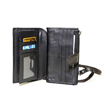 Ashlin® Dulcina Wallet on a Strap, Crossbody Bag, Black