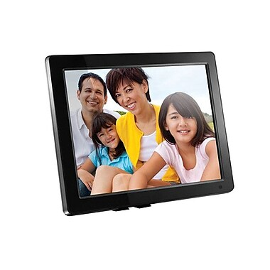 Aluratek ADMPF512F Digital Photo Frame with 512MB Built-in Memory, 12