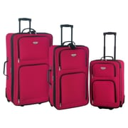 Travelers Club Genova 3 Piece Expandable Luggage Set; Red