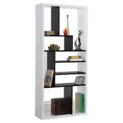 Hokku Designs Keith 71'' Bookcase; Black and White