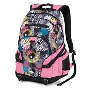 High Sierra Waffle Weave Backpack 19.25 x 13.5, O'Mod, Pink Lemonade & Black