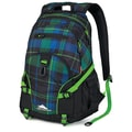 High Sierra Waffle Weave Backpack 19.25in. x 13.5in., Logger Plaid, Black & Kelly