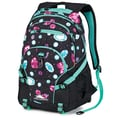 High Sierra Waffle Weave Backpack 19.25in. x 13.5in., Bejeweled, Black & Aquamarine