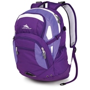 High Sierra Waffle Scrimmage Backpack 19.25 x 13.5, Deep Purple, Lilac Night & White