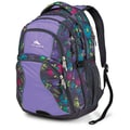 High Sierra Polyester Swerve Backpack 19in. x 13in. Flower Stitch, Lilac Night & Mercury