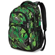 High Sierra Polyester Swerve Backpack 19 x 13 Green