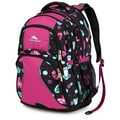 High Sierra Polyester Swerve Backpack 19in. x 13in. Bejeweled, Purple Razz & Black