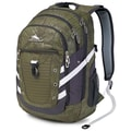 High Sierra Polyester Tactic Backpack 19in. x 12.5in., Moss Treads, Mercury, Moss & White