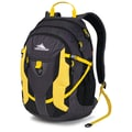High Sierra Ripstop Aggro Backpack, Mercury, Black &Yell-O