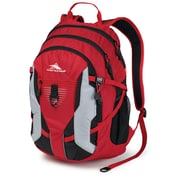 High Sierra Ripstop Aggro Backpack, Crimson, Black & Silver