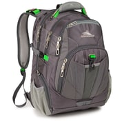 High Sierra Ballistic Nylon XBT TSA Backpack Charcoal, Silver & Kelly