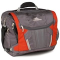 High Sierra Nylon BT TSA Messenger Bag, 20in. x 13.5in. Charcoal, Lava, Silver & Black
