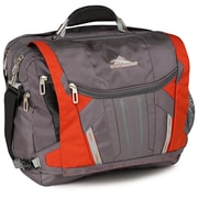 "High Sierra Nylon BT TSA Messenger Bag, 20"" x 13.5"" Charcoal, Lava, Silver & Black"