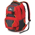 High Sierra Shiny waffle weave Brody Backpack 19in. x 12in., Crimson, Mercury & Black
