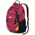 High Sierra Waffle Kenley Backpack 19in. x 12in., Crochet, Black & Coral