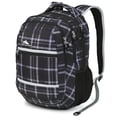 High Sierra Waffle High Sierra Glitch Backpack, Holmes Plaid, Black & Silver