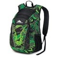 High Sierra Duralite Blaster Backpack 18.5in. x 8.2in., Cognito, Black & Chartreuse