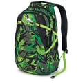 High Sierra Waffle Weave Fallout Backpack 19in. x 8.5in., Cognito, Black & Chartreuse