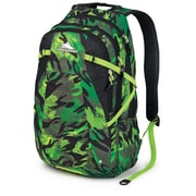 High Sierra Waffle Weave Fallout Backpack 19 x 8.5, Cognito, Black & Chartreuse