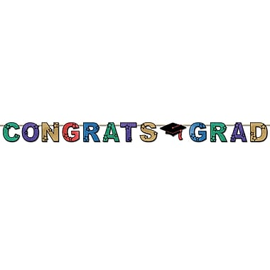 Glittered Congrats Grad Streamers, 8-1/2