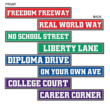 Graduation Street Sign Cutouts, 4