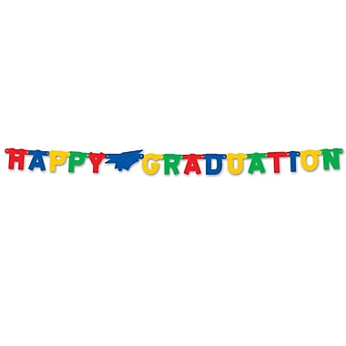 Foil Happy Graduation Streamer, 4-1/4