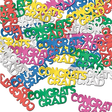 Congrats Grad Fanci-Fetti, Multi-Colour, 5/Pack