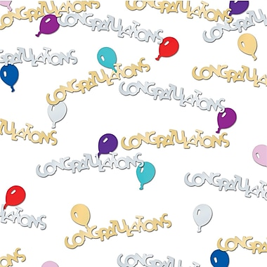 Congrats & Balloons Confetti, 5/Pack