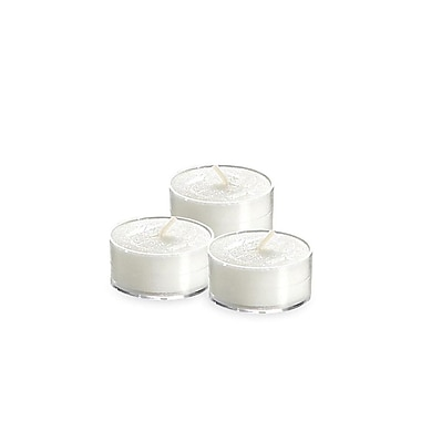 Yummi Unscented Clear Cup Tealight Candles, 5-Hour, 300 Candles/Box