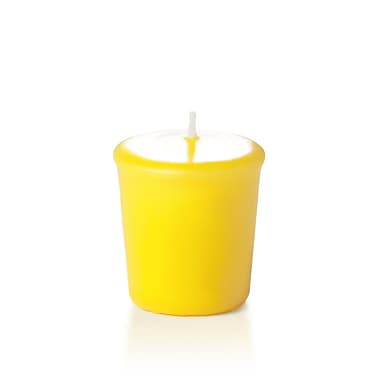 Yummi Unscented Votive Candles, Bright Yellow, 15-Hour, 144 Candles/Box