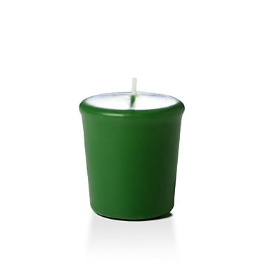 Yummi Unscented Votive Candles, Hunter Green, 15-Hour, 144 Candles/Box