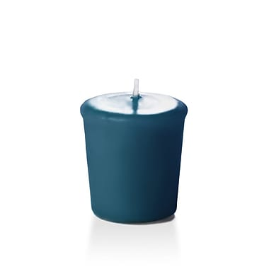 Yummi Unscented Votive Candles, Sapphire, 15-Hour, 144 Candles/Box