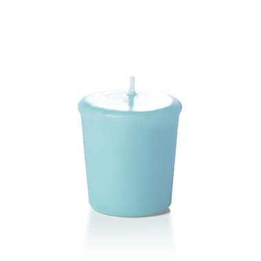 Yummi Unscented Votive Candles, Robin Egg Blue, 15-Hour, 144 Candles/Box