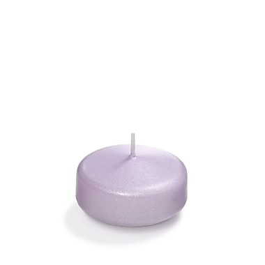 Yummi Pearlescent Floating Candles, Lavender, 3