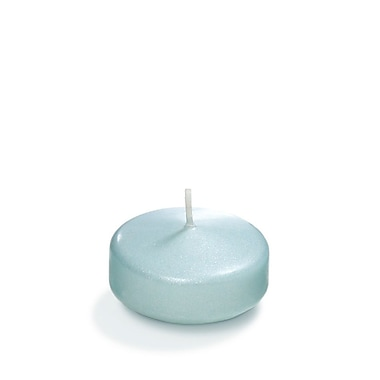 Yummi Pearlescent Floating Candles, Blue, 3