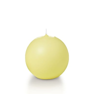 Yummi Sphere / Ball Candles, Buttercup Yellow, 2.8