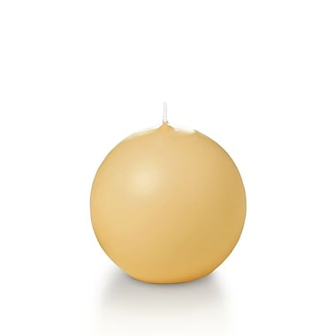 Yummi Sphere / Ball Candles, Caramel, 2.8