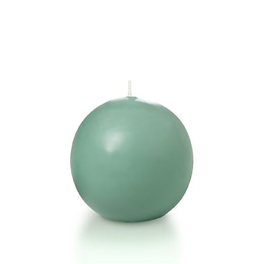 Yummi Sphere / Ball Candles, Aqua Green, 2.8
